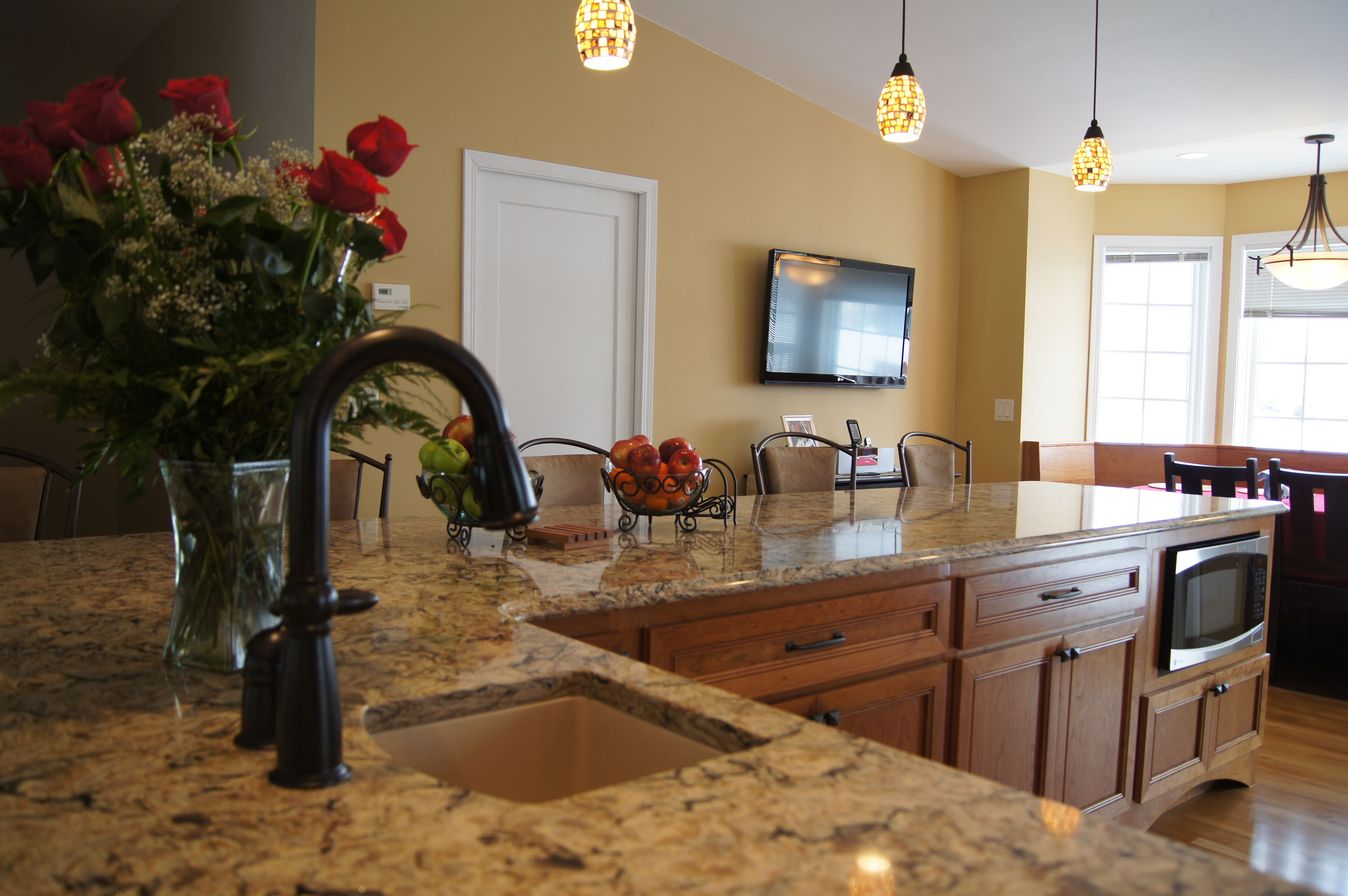 A Perfect Color For A Warm Feel So Welcoming! Here's A Kitchen I