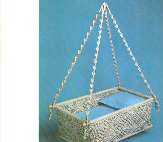 EMELIE: or is this the one? New Magnificent Macrame Elegance Hammock Baby Bed by LuckyKorat