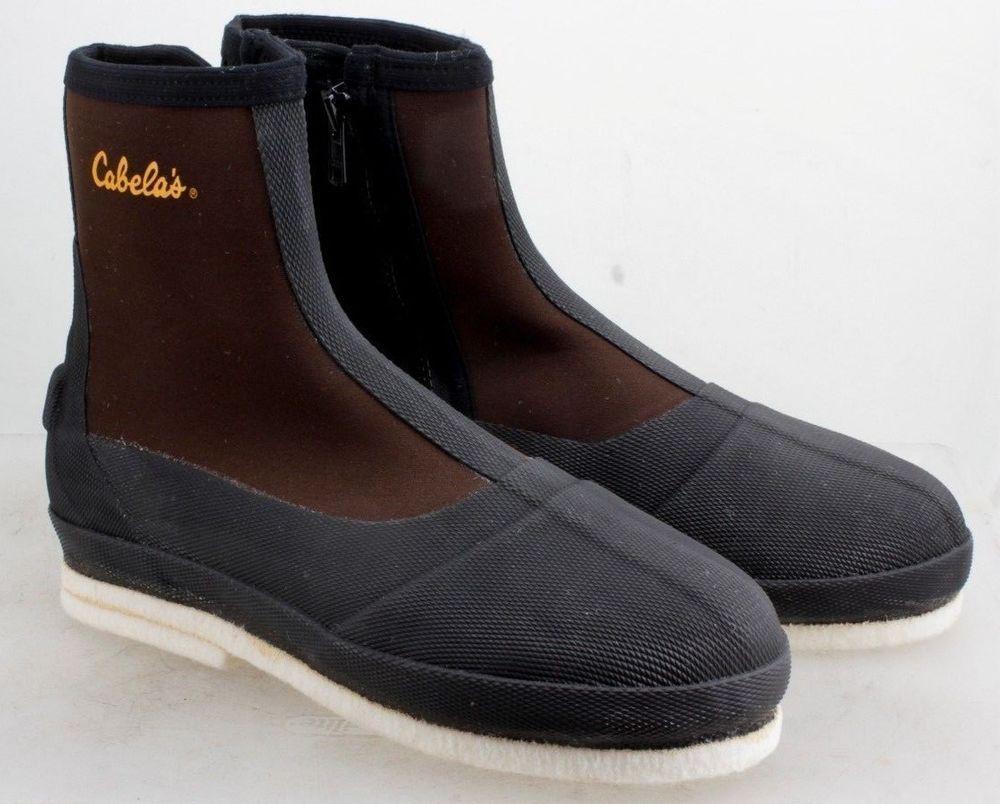 Cabela S Neoprene Fishing Boots Brown Black Felt Sole Wader Water Boots Size L Cabelas Fishingboots Brown Boots Fishing Boots Black Felt