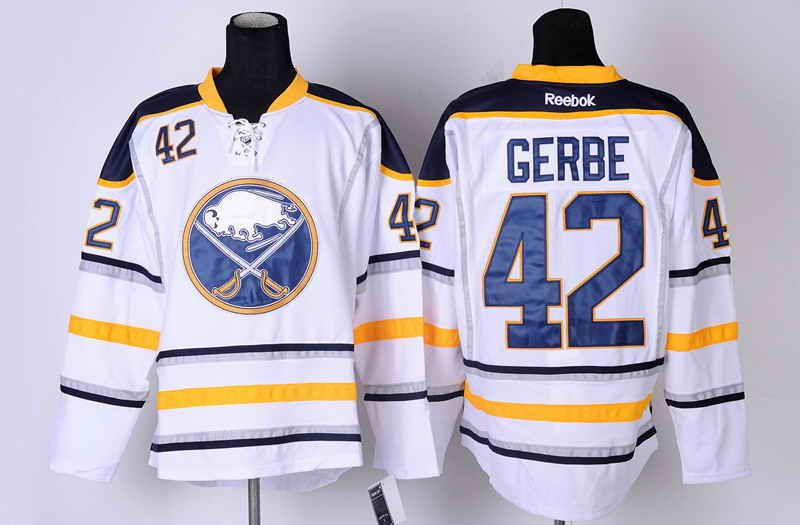 Buffalo Sabres 42 Nathan Gerbe Road Jersey - White [Buffalo Sabres Hockey Jerseys 060] - $50.95 : Cheap Hockey Jerseys