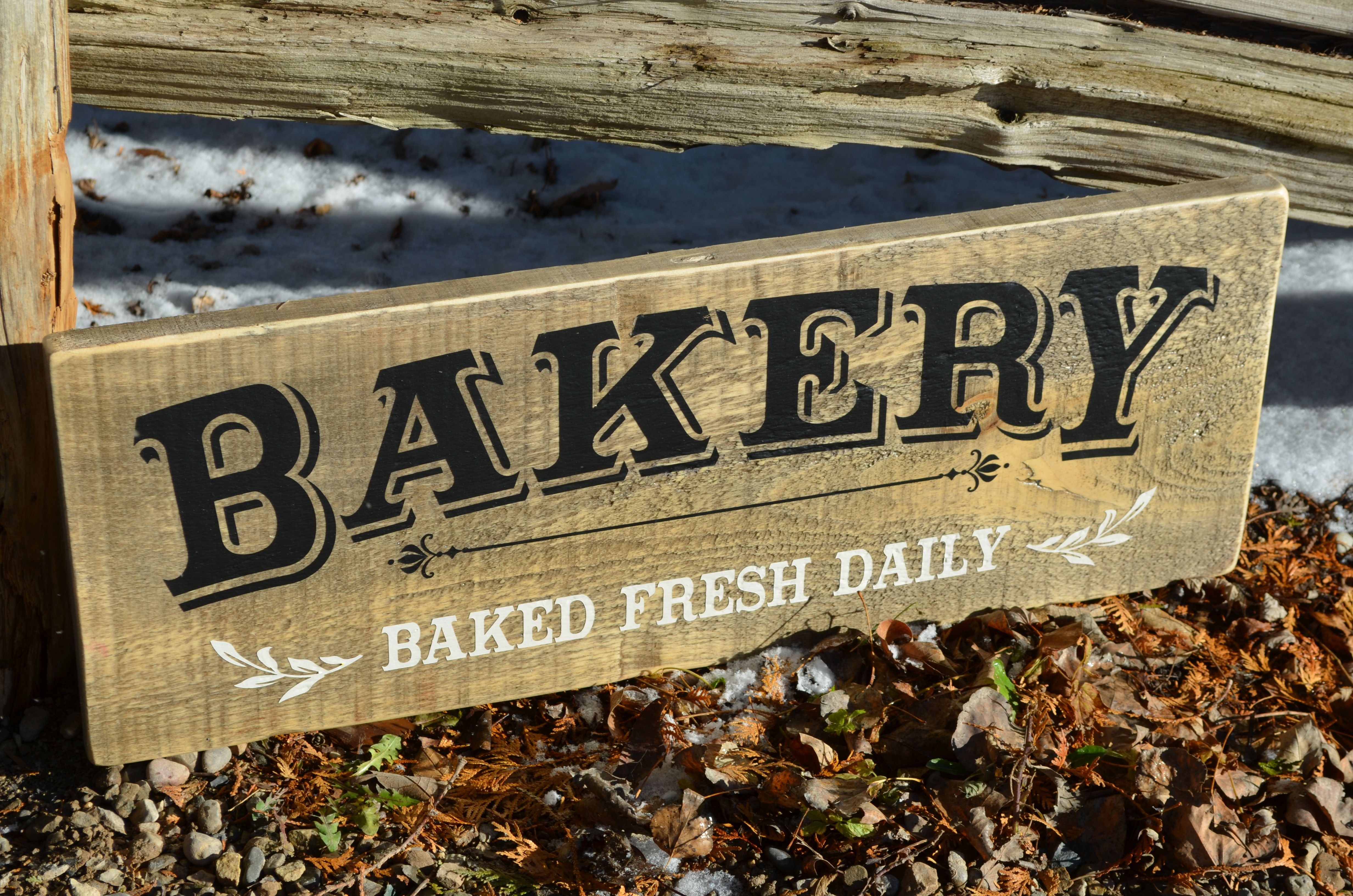 """Wooden Sign Decor Custom Bakery Sign Farmhouse Sign Collection Approx Size 12"""" X 32 Design Ideas"""