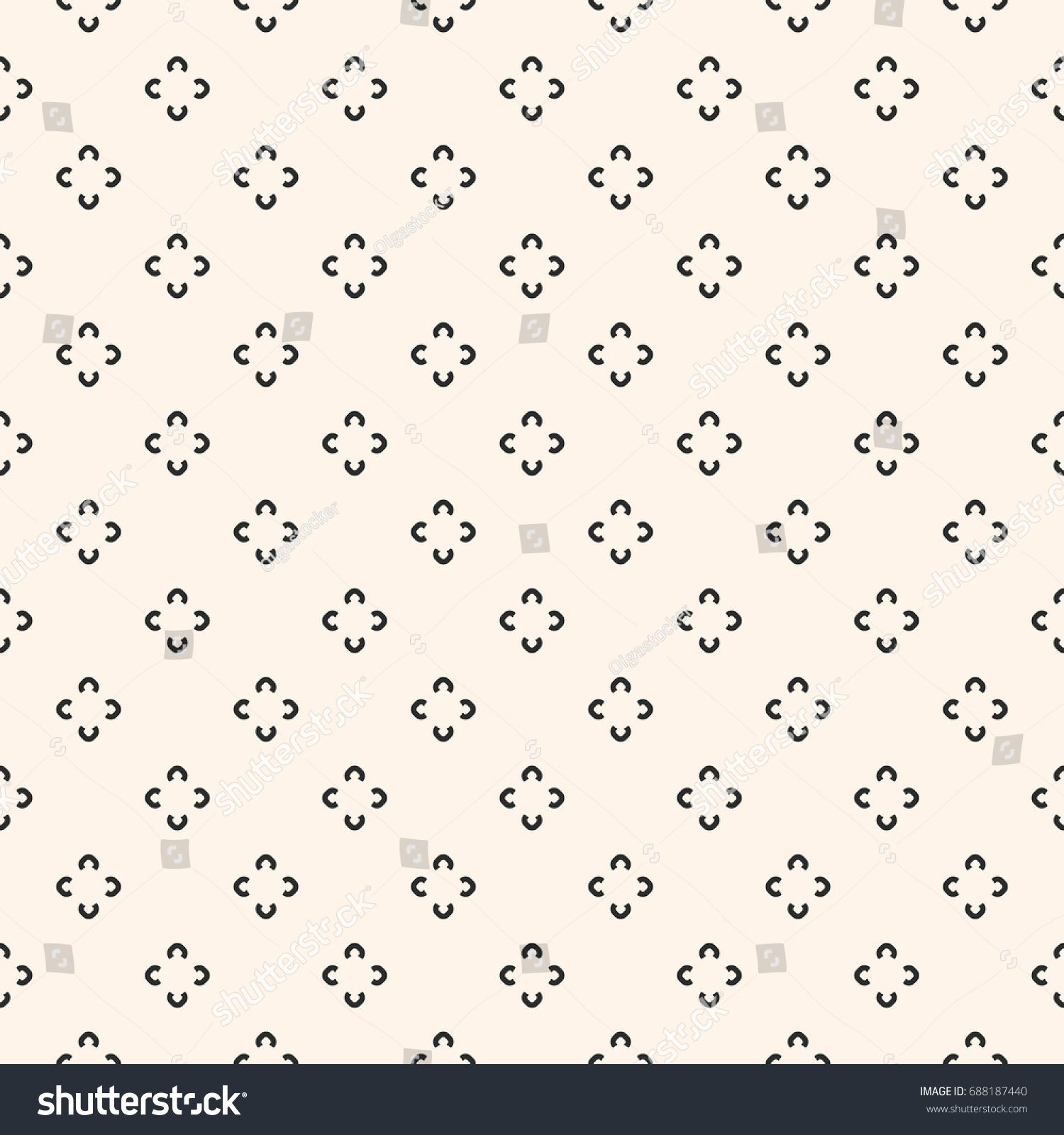 Simple Floral Pattern Vector Minimalist Seamless Texture With