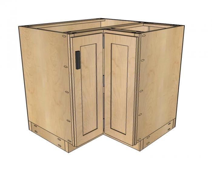 36x36 Corner Cabinet {Ana White} | Kitchen cabinet plans ...