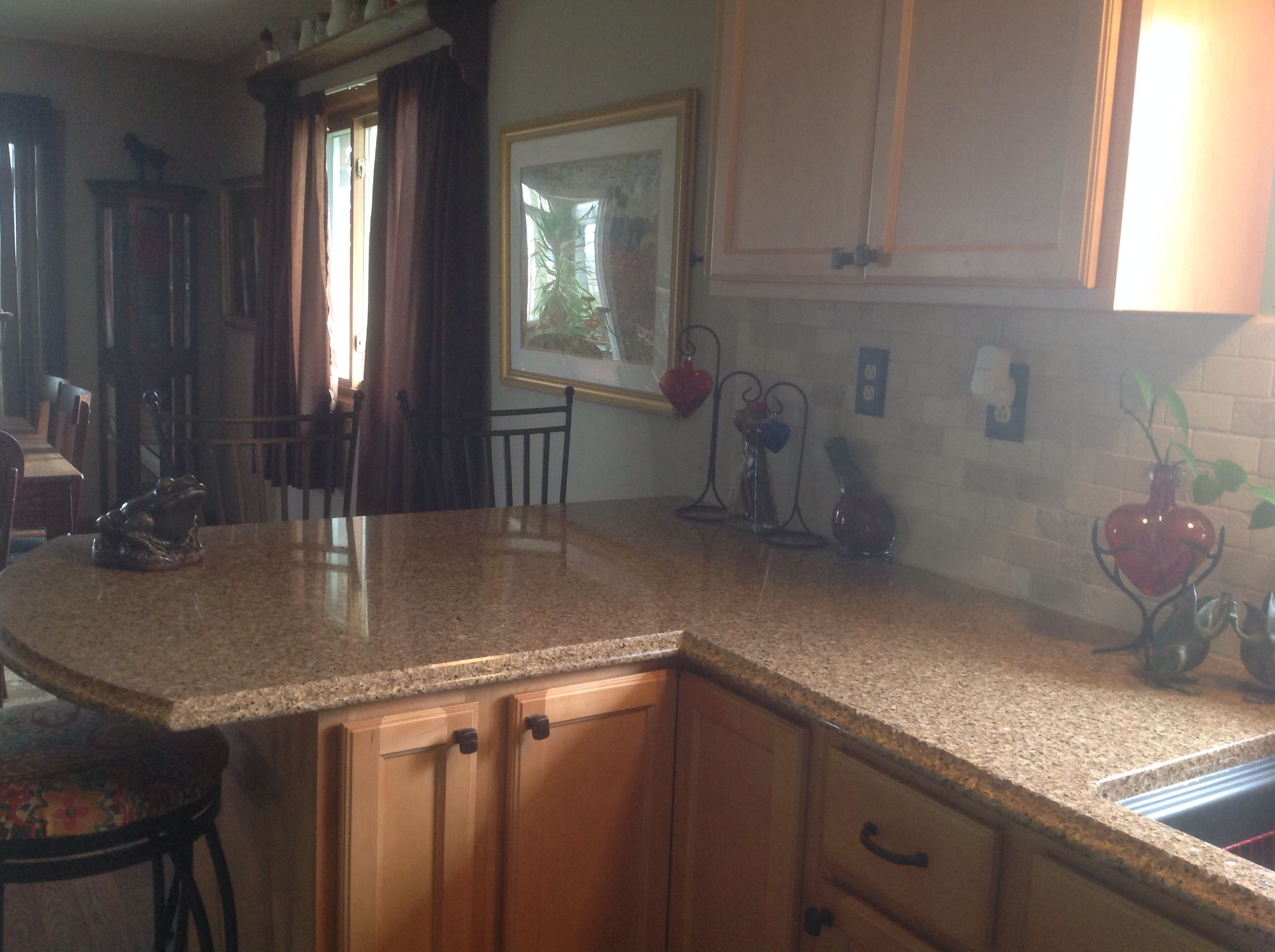 Taking Down The Old Cupboards And Partial Wall Really Opened Up The Space Love It Kitchen Remodel Cupboard Kitchen
