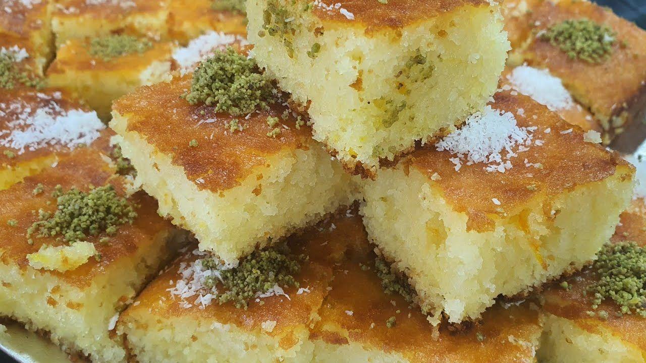الاسبانيا كيك او بسبوسة جوز الهند أعادة التحميل Youtube Food Receipes Food Arabic Sweets