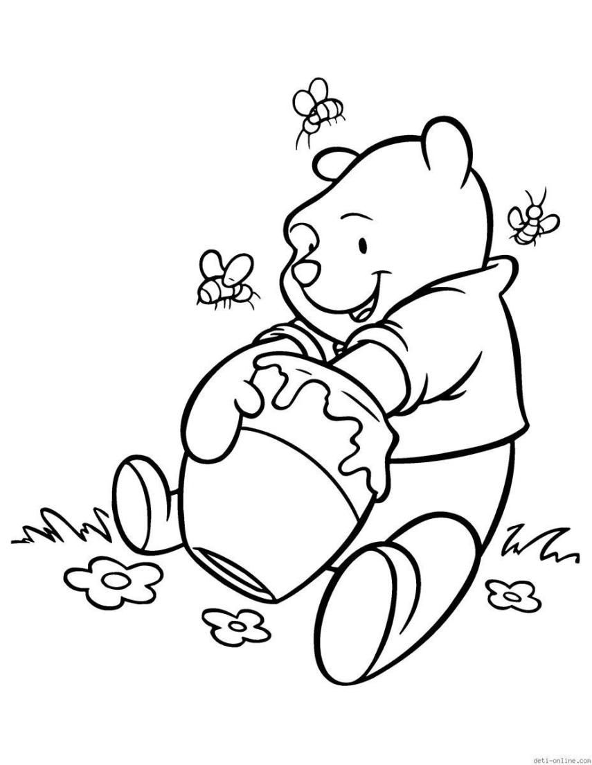 ausmalbilder ausdrucken  Bear coloring pages, Bee coloring pages