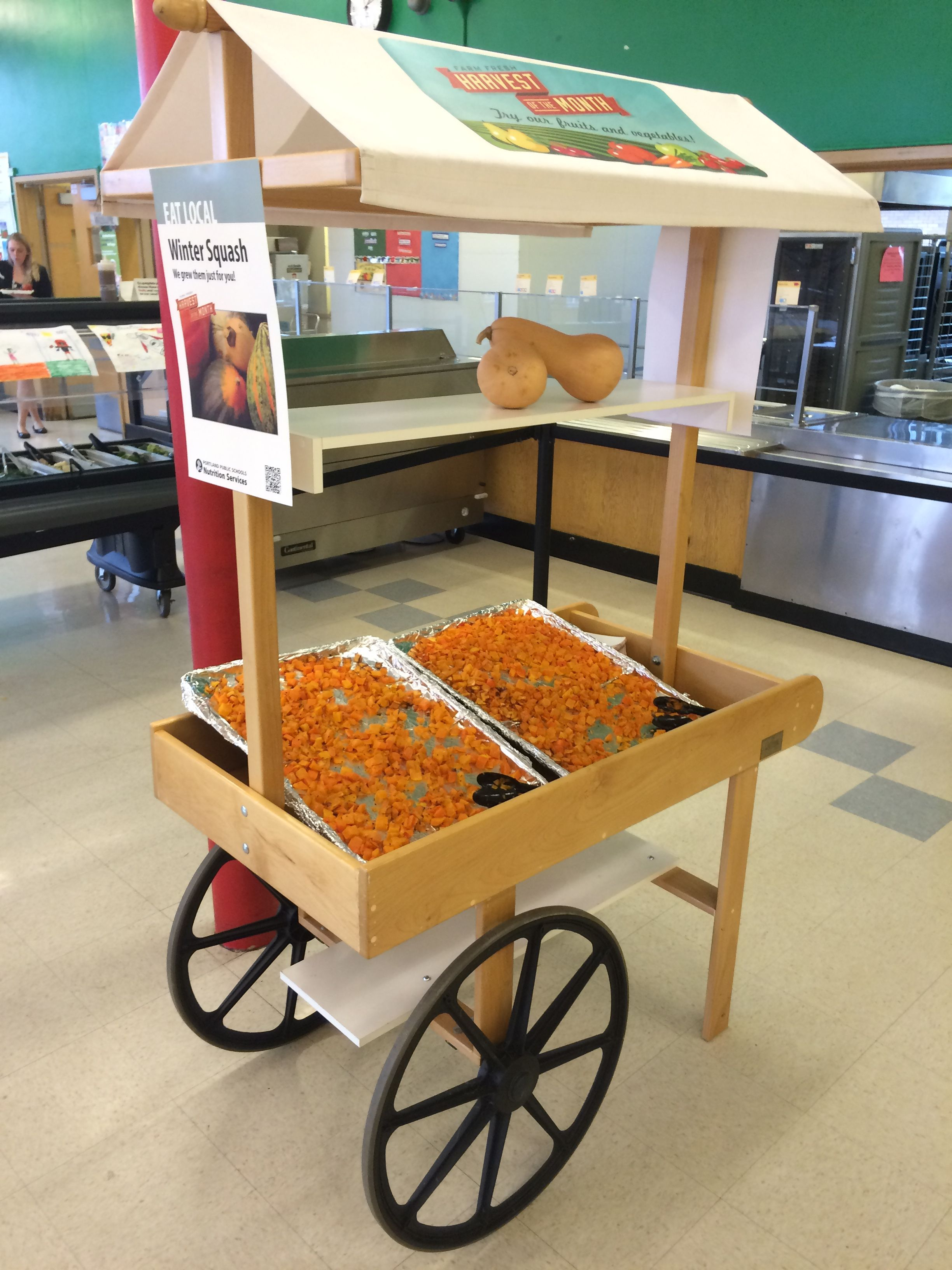Harvest cart perfect display and way to serve students