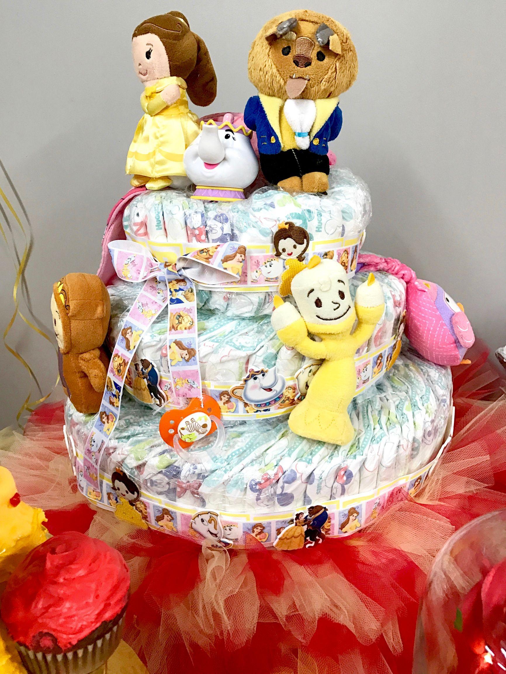 Beauty U0026 The Beast Diaper Cake