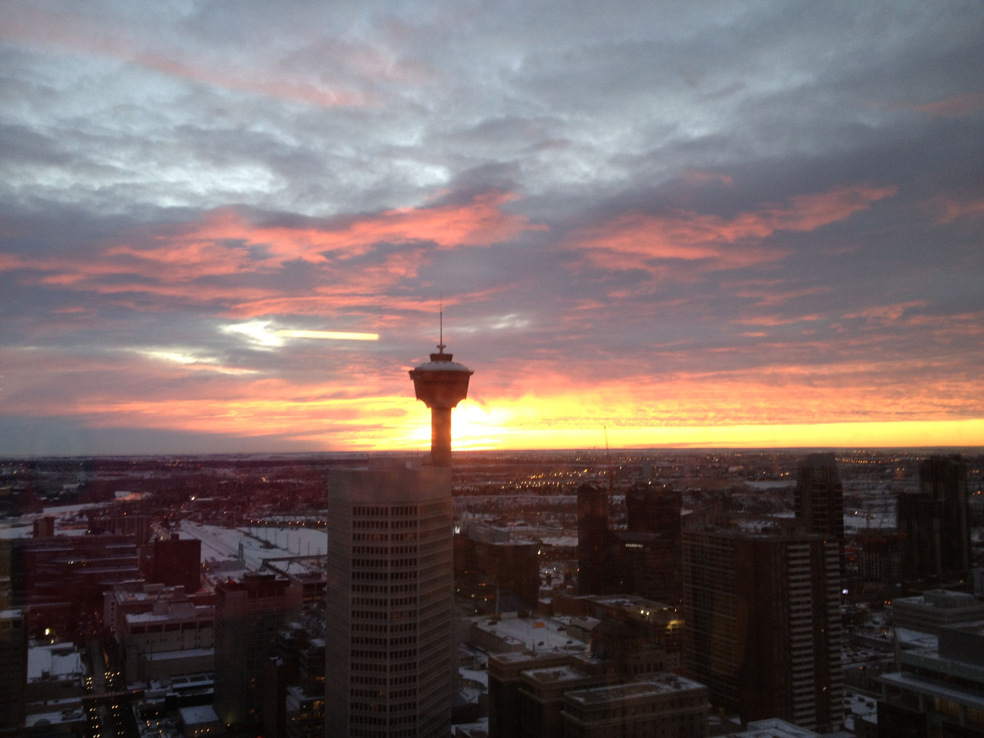 Calgary Alberta Great Sunsets Top Travel Destinations Calgary