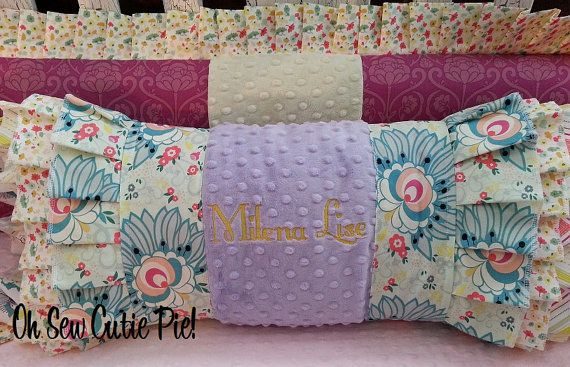 Coral Lavender Yellow And Teal Sweet Caroline Vintage Floral Baby Toddler Bedding Baby Girl Bedding Nursing Pillow Cover Nursery Accessories