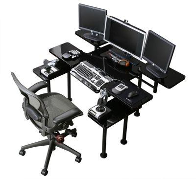 Atlantic Gaming Desk Black