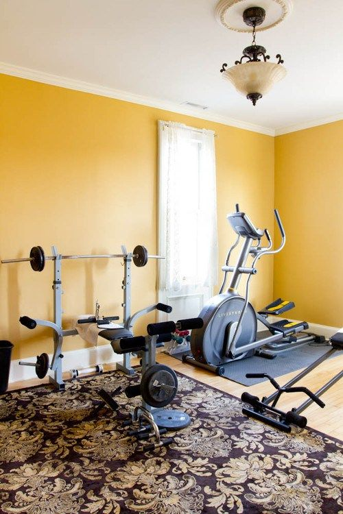 What S The Best Color For A Workout Room Calling Yellow Walls With Grey Red Or Black Accents