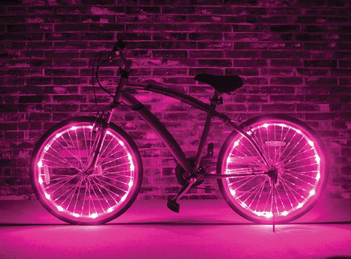 Wheel Brightz Pink Bicycle Accessories Lights Pink Wheels