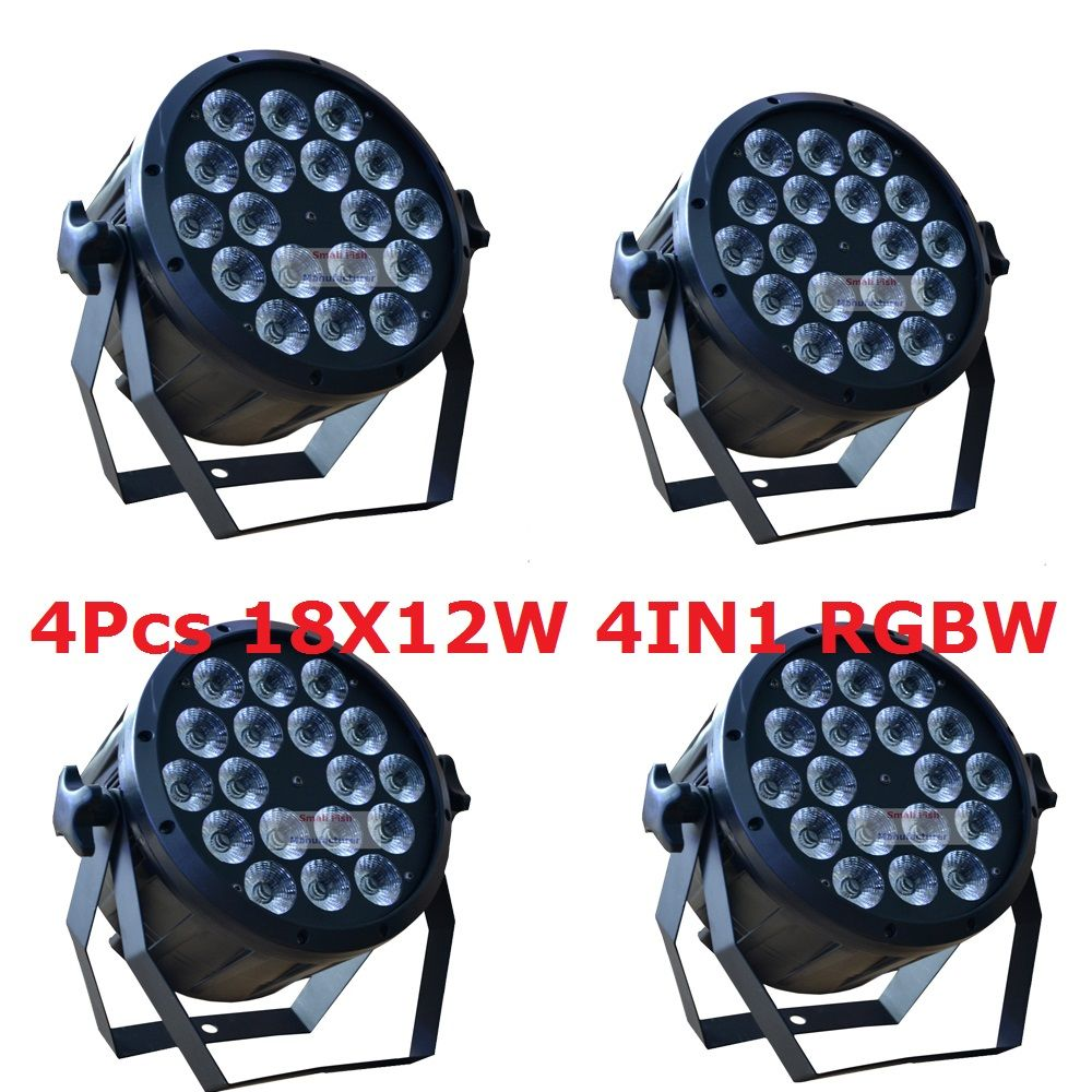 4 1 xlot led parライト18 × 12ワットの4in1 rgbw eu/米国プラグ8ch led ...