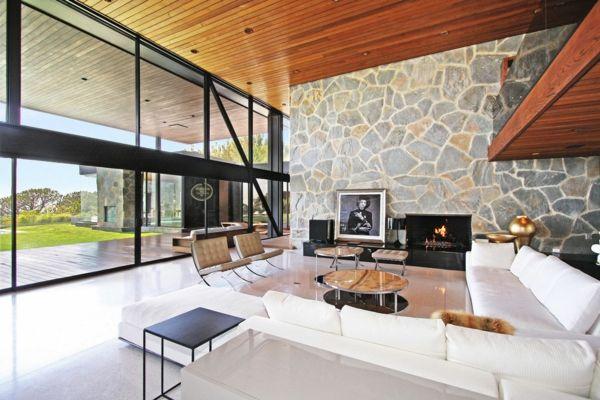 steinwand im wohnzimmer steinwände innen dekosteine wand Pinterest - wohnzimmer design steinwand