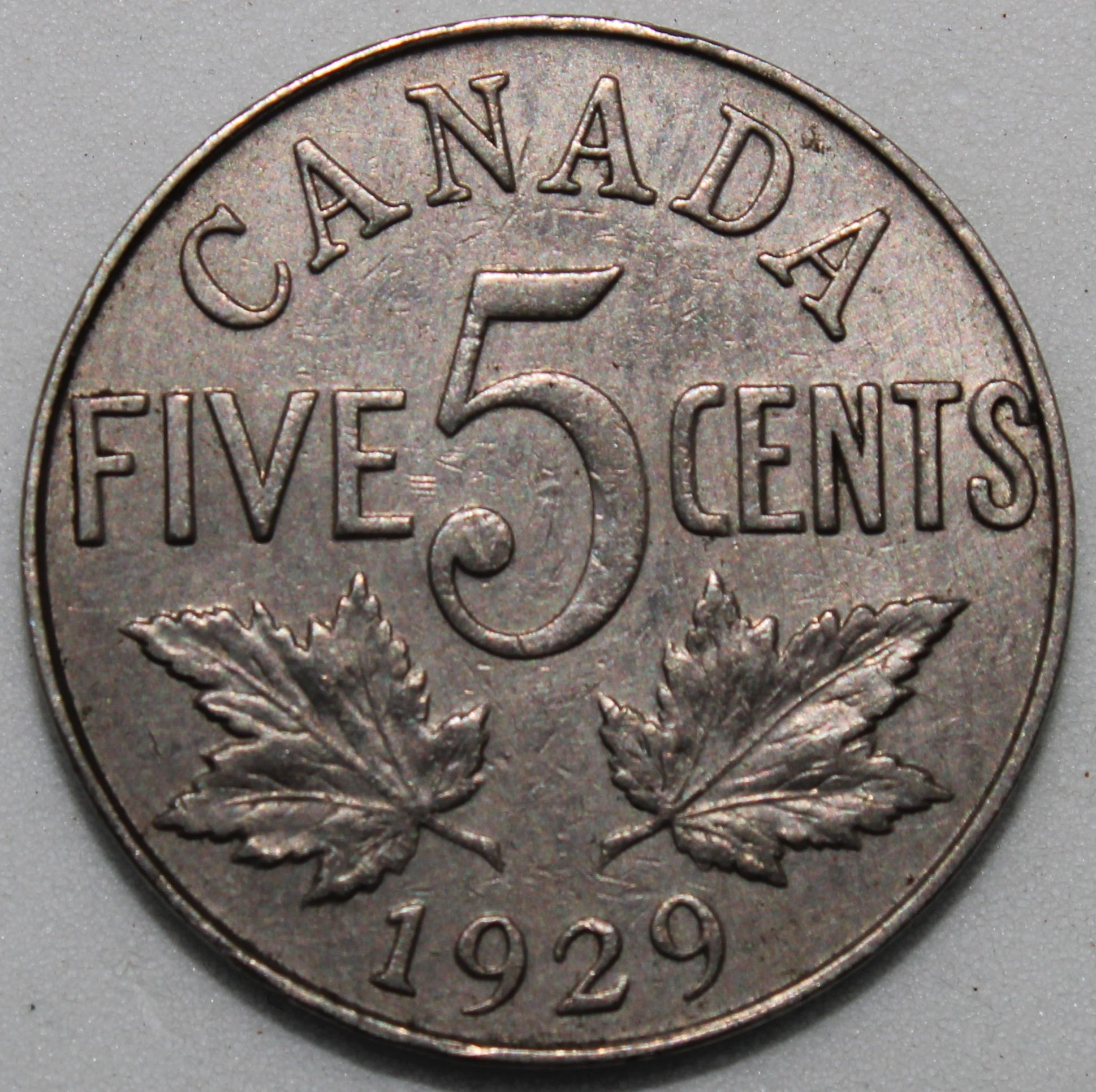 1929 Canada 5 Cents Nickel Coins Km Coins Coins 5 Cents Coin Values