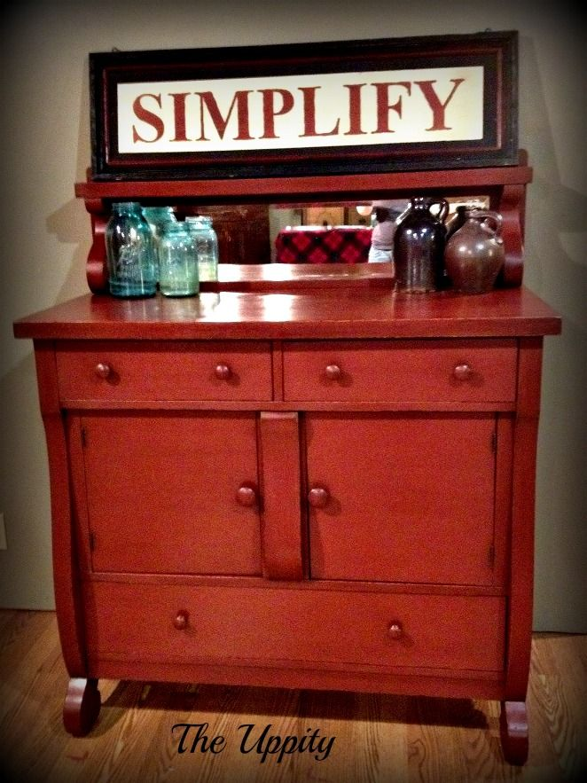 Painted in Annie Sloan Chalk Paint Primer Red by The ...