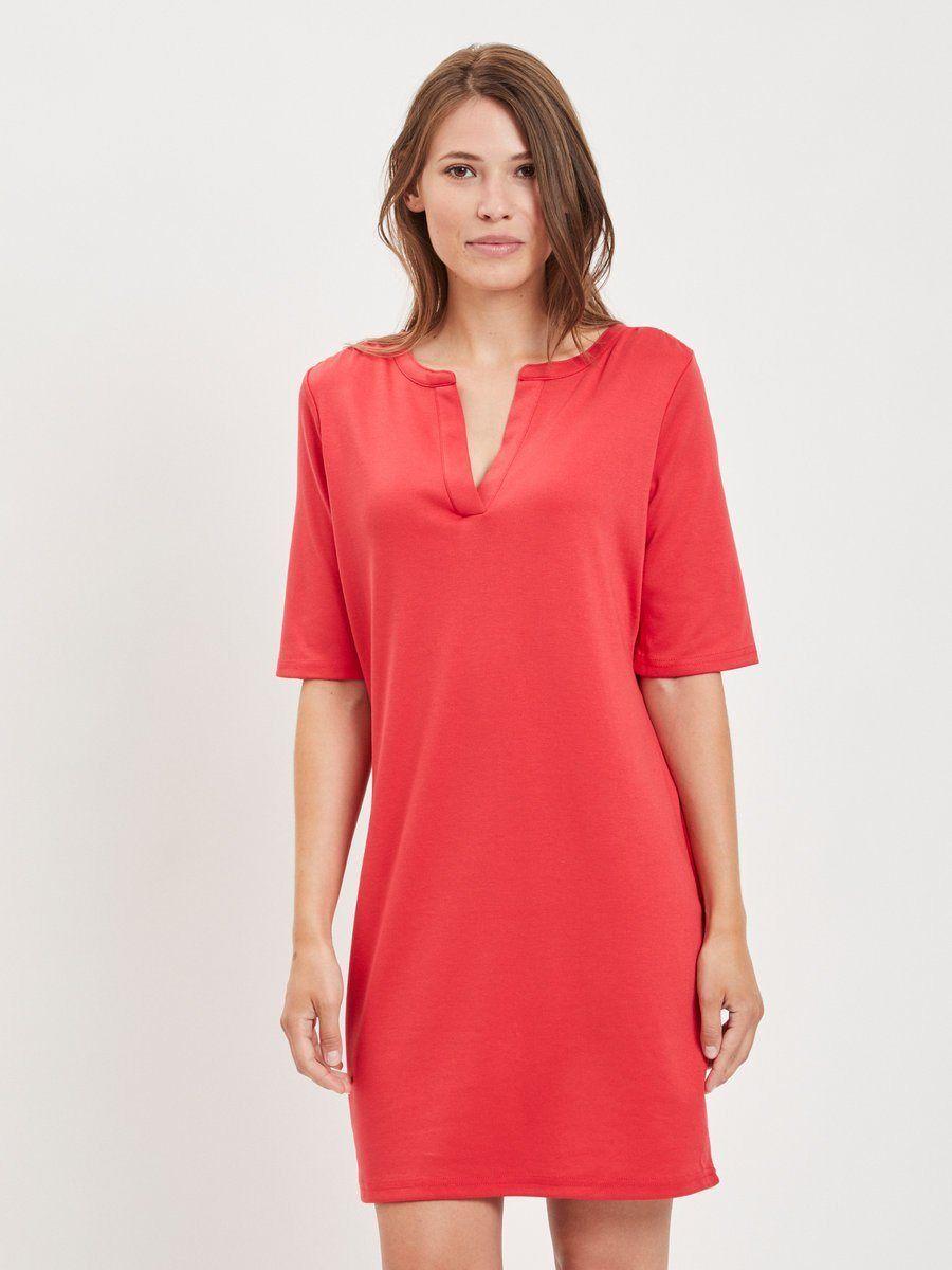 Petticoat kleid v ausschnitt