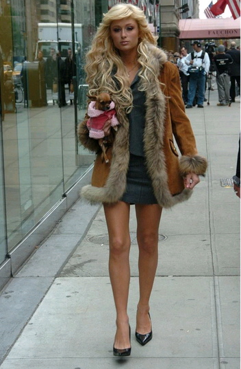 803b06a096c Paris Hilton in New York City wearing a fur trimmed coat.Paris always  chooses to keep warm under a layer of fur.  furstyle  ParisHilton  NYC   celebrities ...