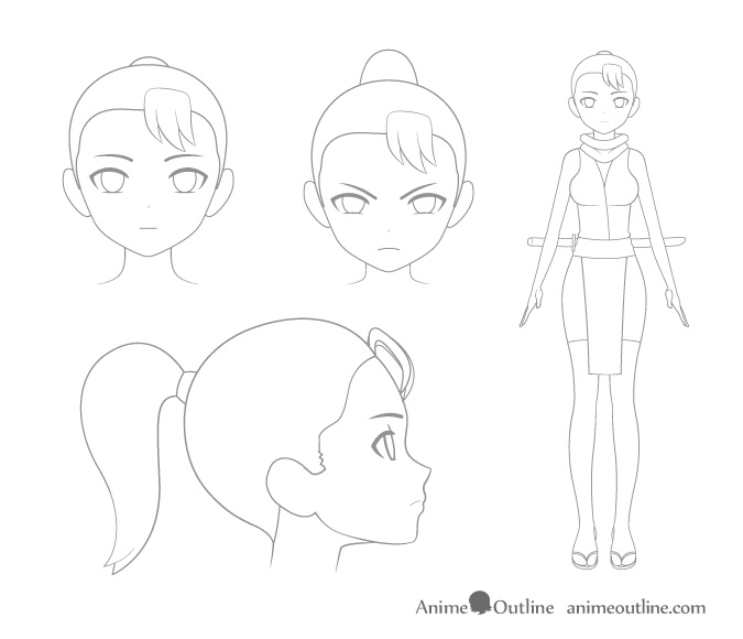 4 Important Steps To Draw A Manga Or Anime Character Animeoutline In 2020 Anime Drawings Anime Characters