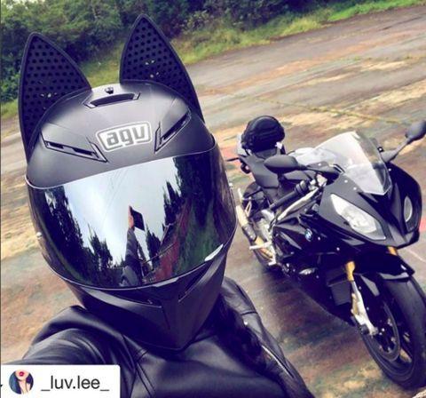 50 Coolest CAT EAR Bike Helmets – #Cat #Coolest #Ear #Helmets #Motorcycle