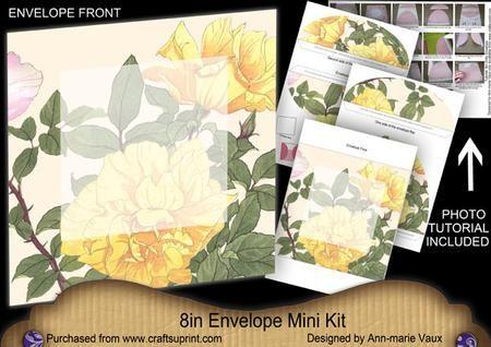 Lemon Rose Large Blooms 8in Envelope Mini Kit on Craftsuprint - Add To Basket!