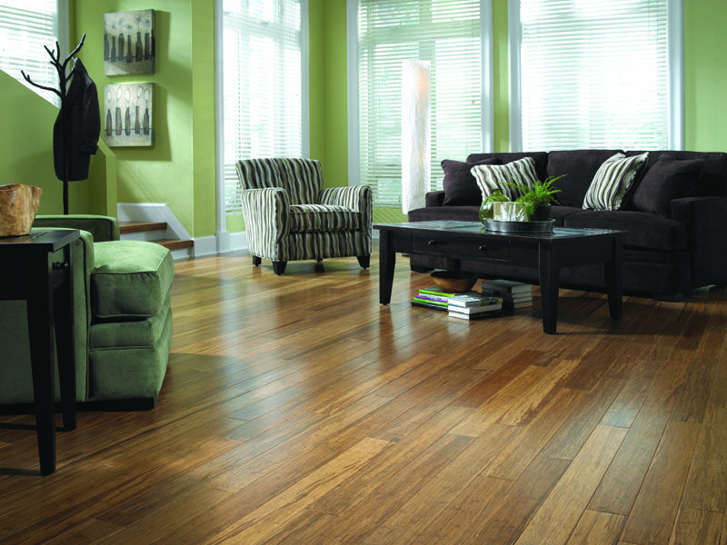 Morning Star Strand Carbonized Bamboo Bamboo Wood Flooring