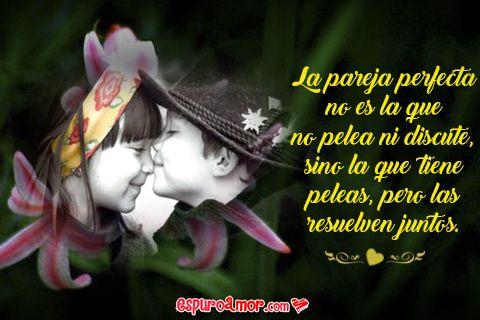 Imagen De Amor Con Pareja De Ninos Enamorados Con Frase De Amor Para