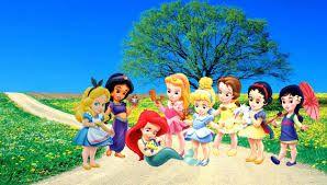 Resultado de imagen para princesas disney bebes