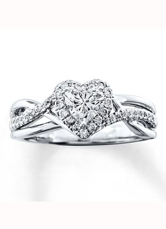 055cd0c51 Kay Jewelers Heart-Shaped Engagement Ring | Engagement & Wedding ...