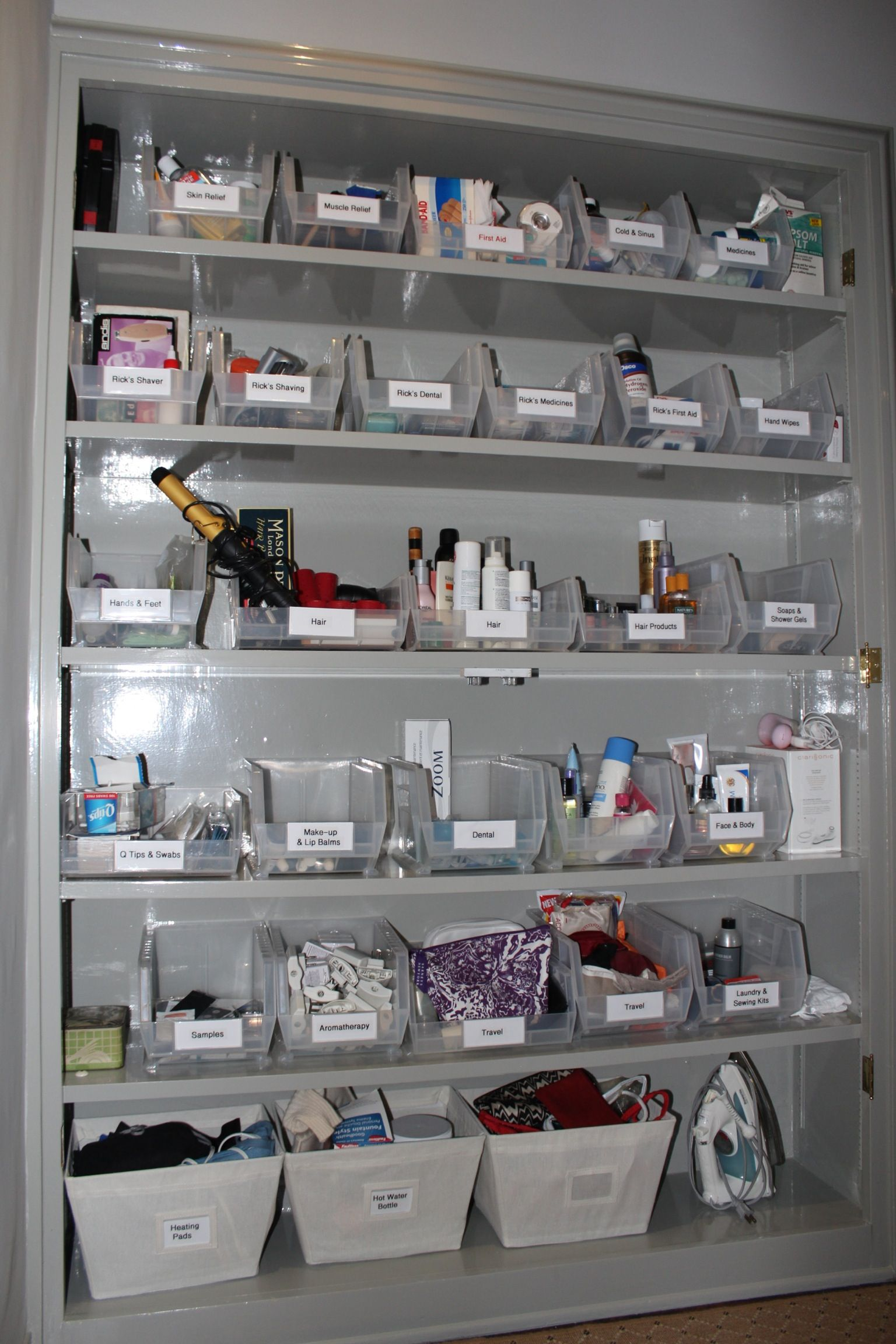 Master Bathroom Organizing Ideas: Organized Bathroom Closet. I Wish Mine Looked This Way