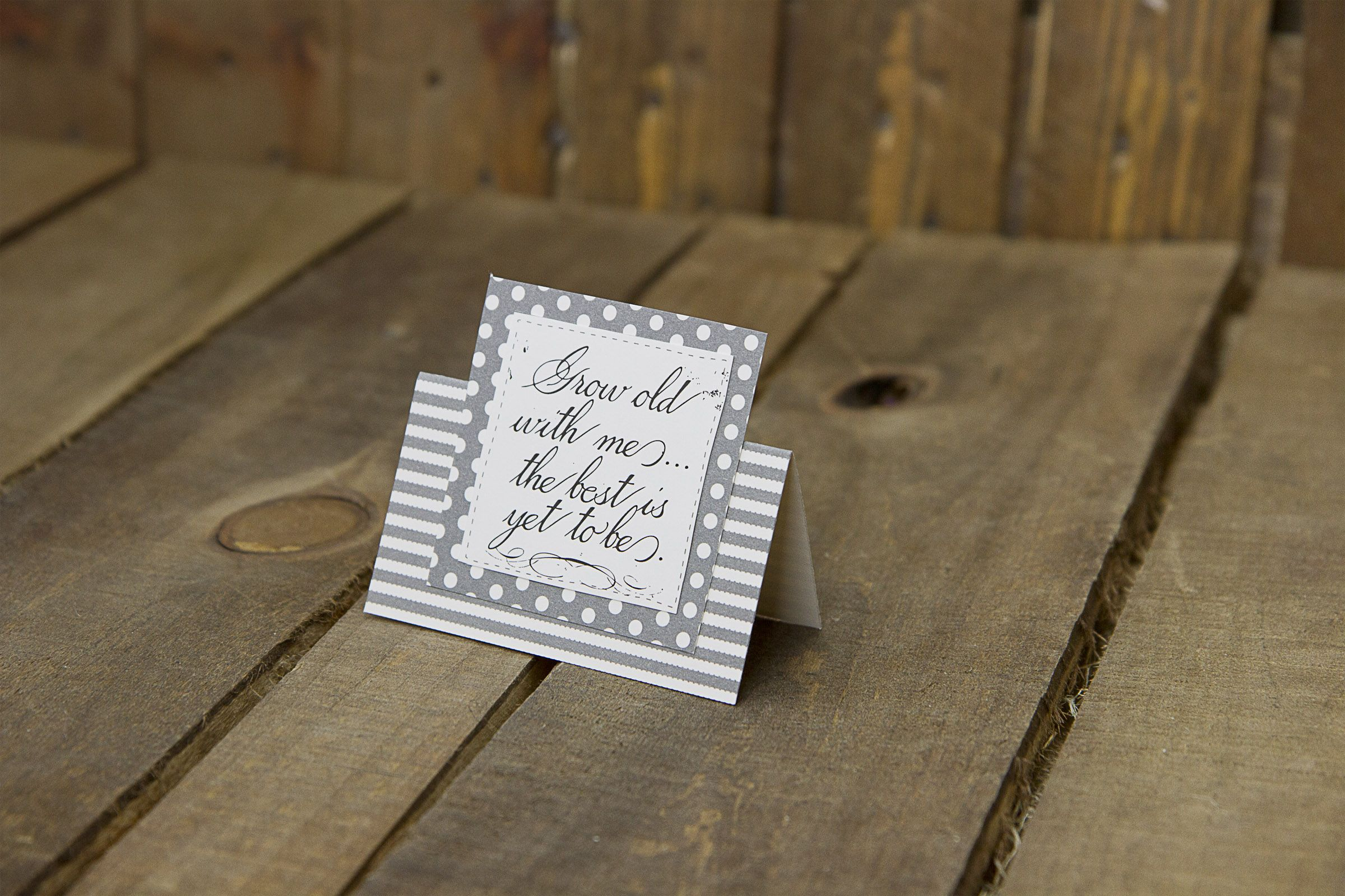 Grow old with me u the best is yet to be diy wedding gift card