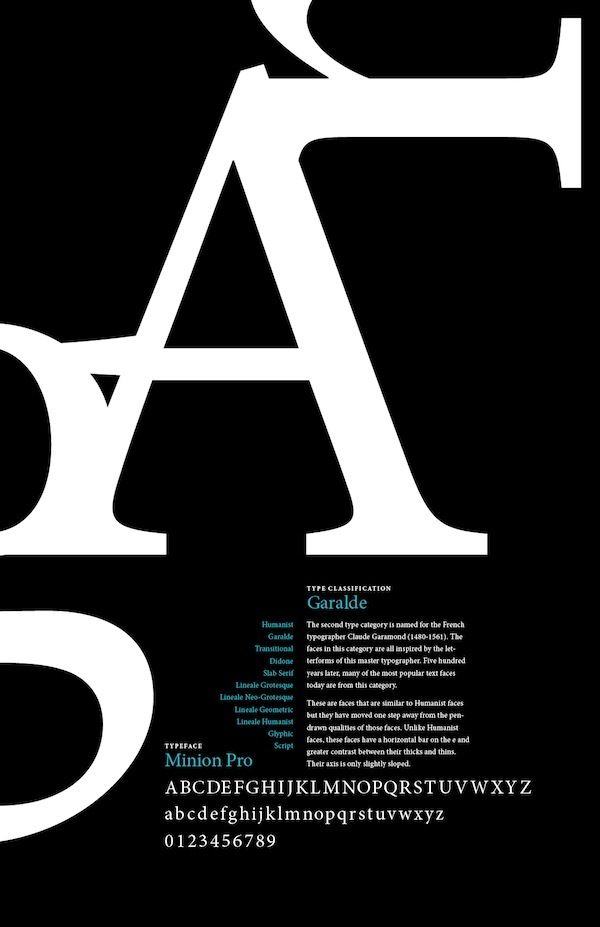 Type Classification Poster Series By Paula Lavalle Via Behance