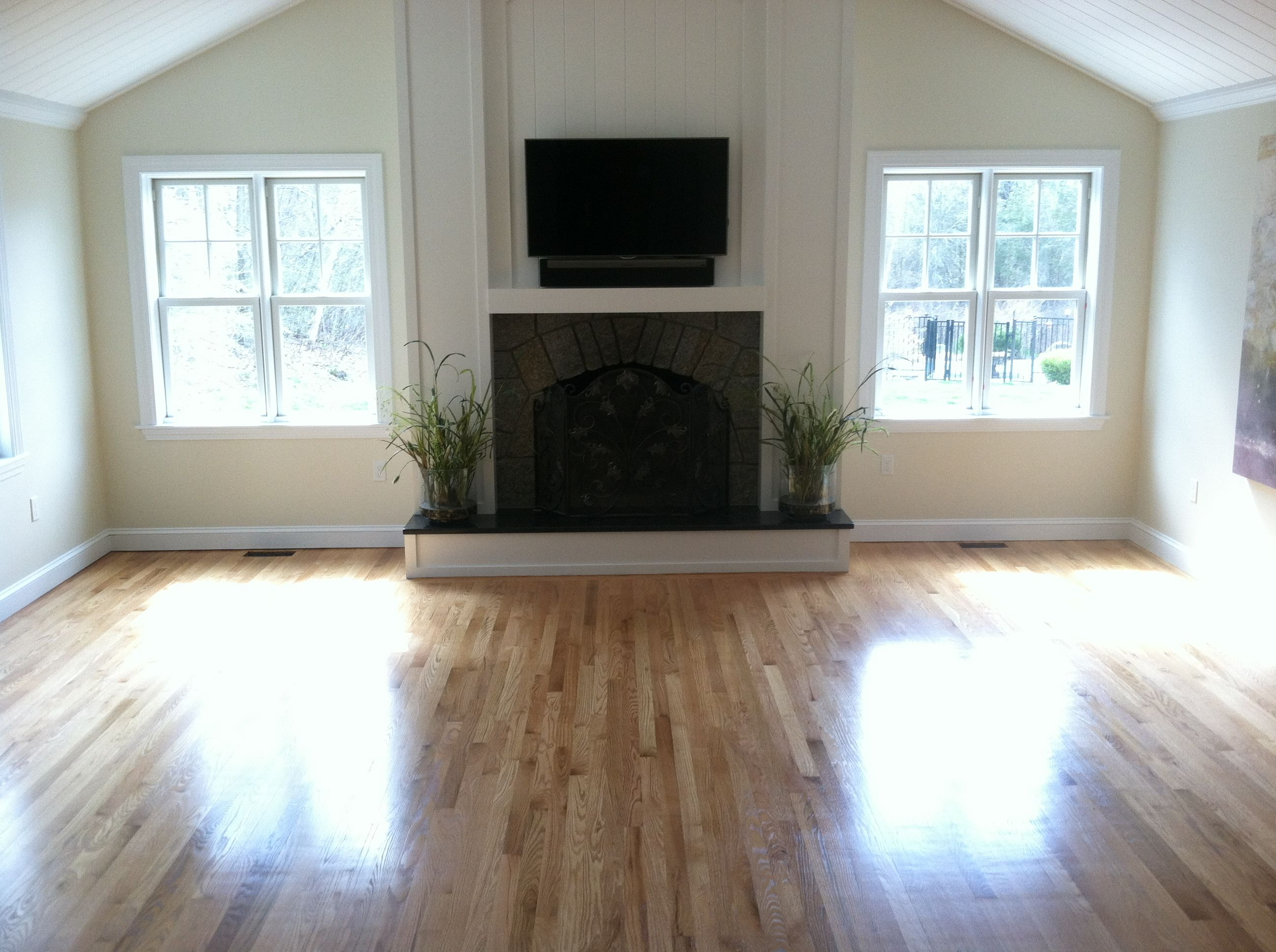 Select And Better Red Oak Flooring With 3 Coats Of Bona Woodline Polyurethane Semigloss Floor Finish