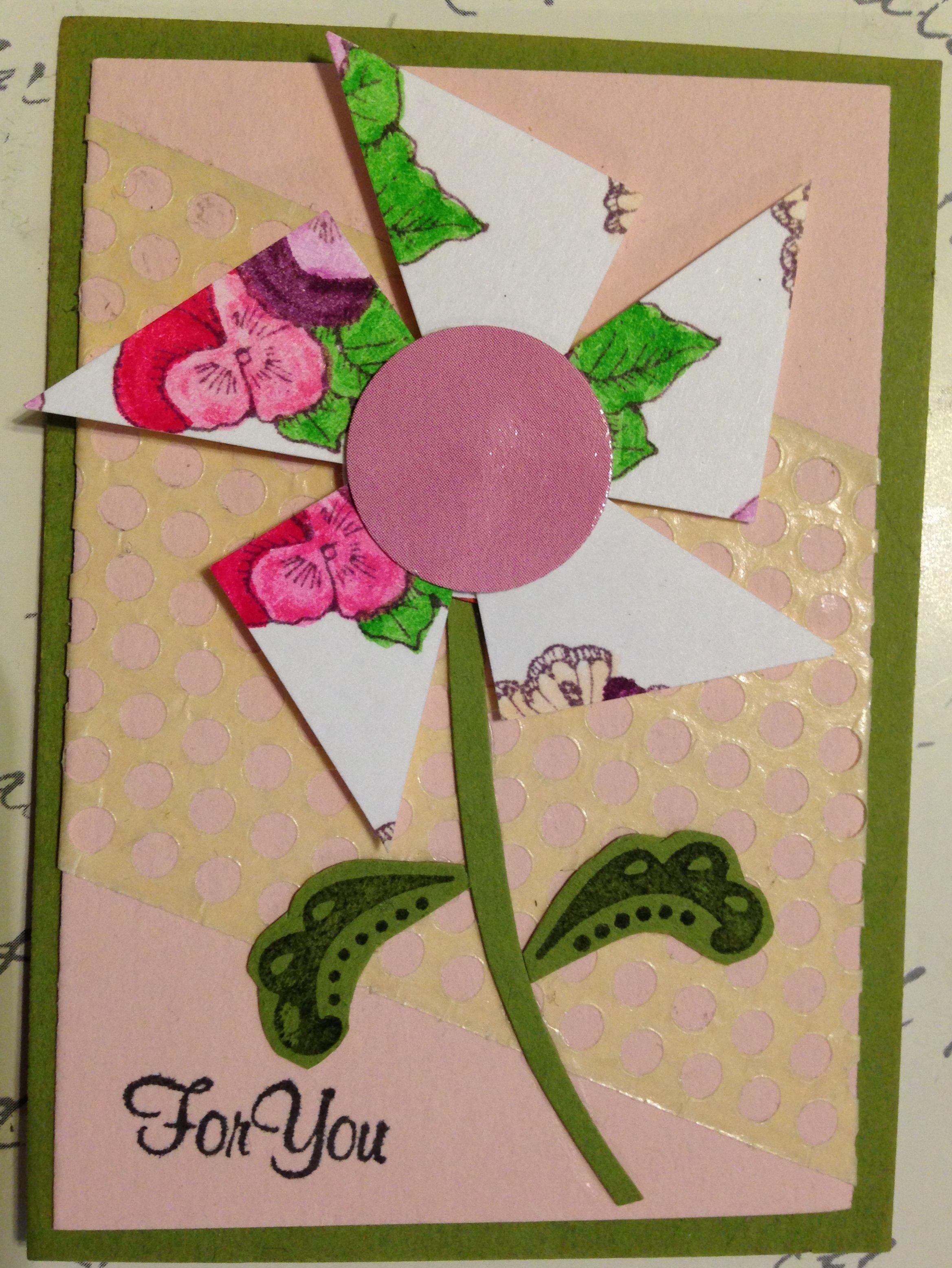 ATC Pinwheel For You  4/7 by Mickey Jo Corbin