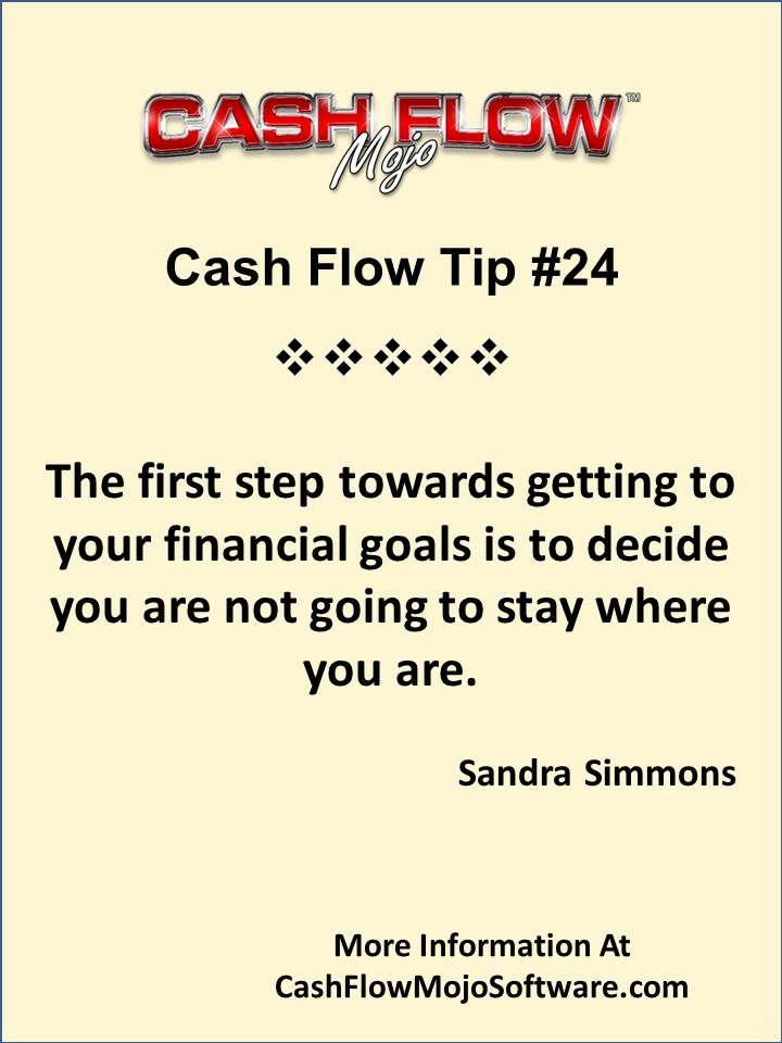 cashflow management tip 24 on reaching your financial goals