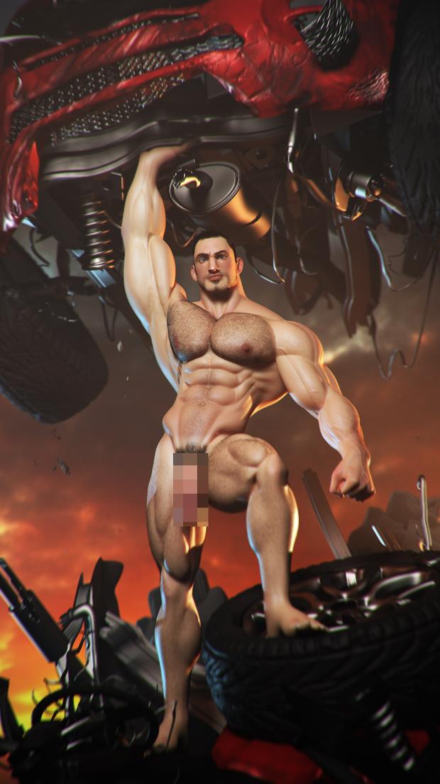 from Izaiah gay art muscle