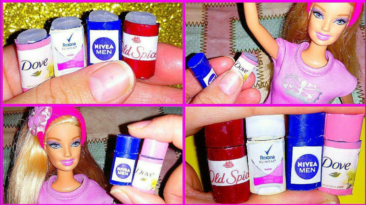 Diy Barbie Miniature Como Hacer Desodorantes Miniaturas Para Muñecas Youtube