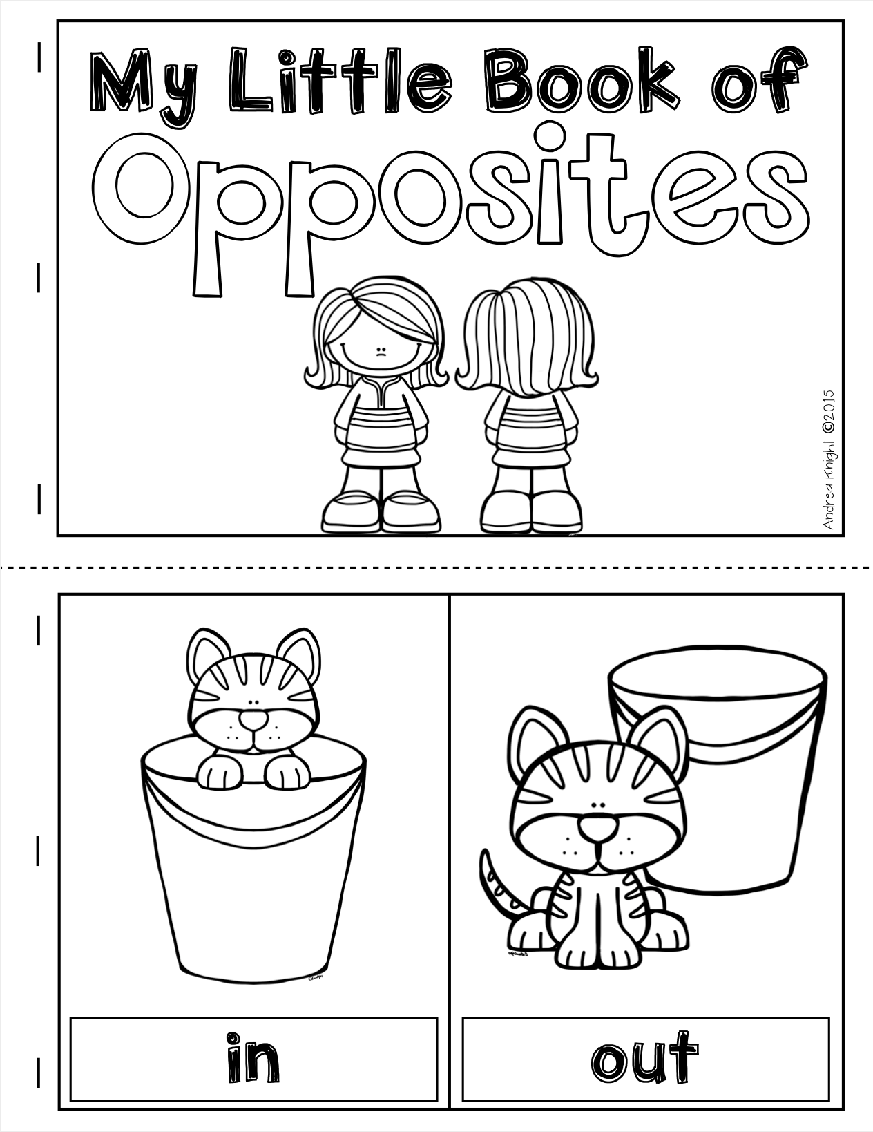 Opposites Posters Pairing Cards And A Student Book In