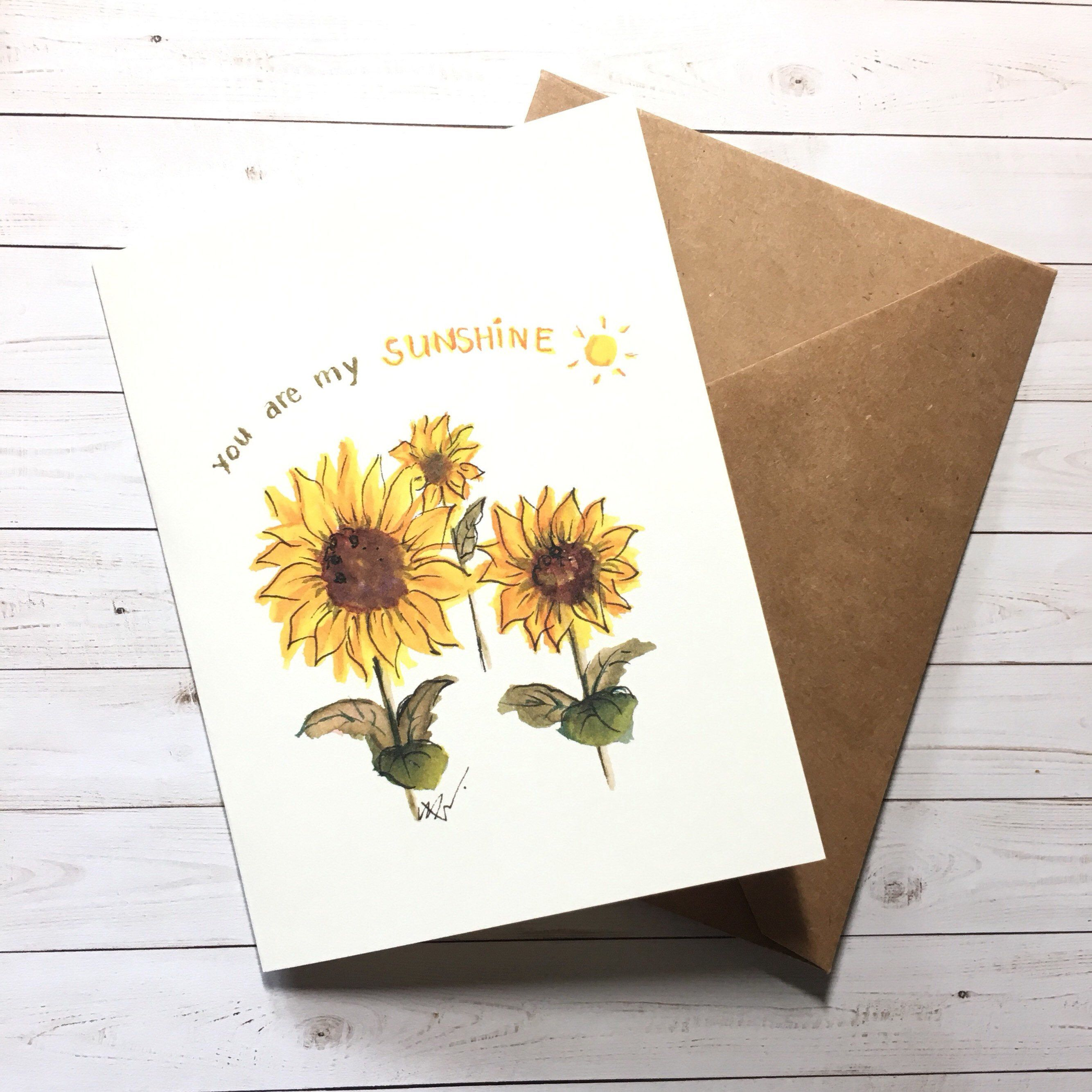 Floral Palm Illustrated Greeting Card