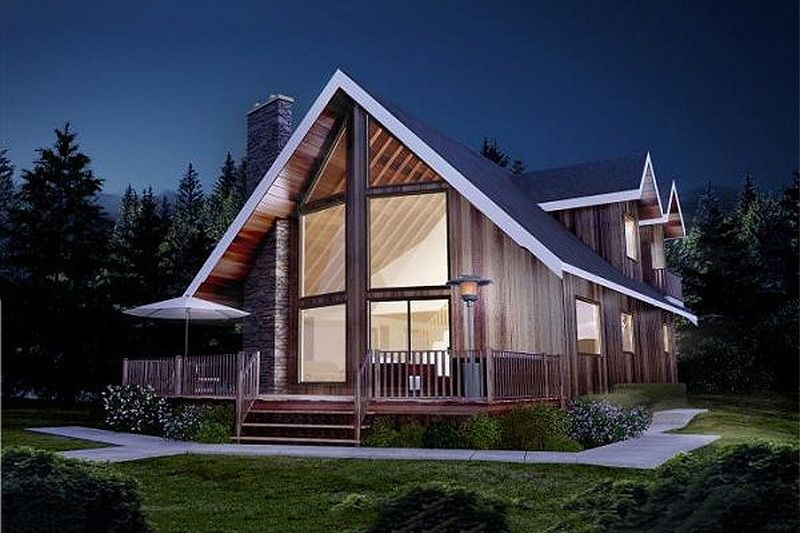 Cabin Style House Plan - 3 Beds 2 Baths 1677 Sq/Ft Plan #126-173 ...