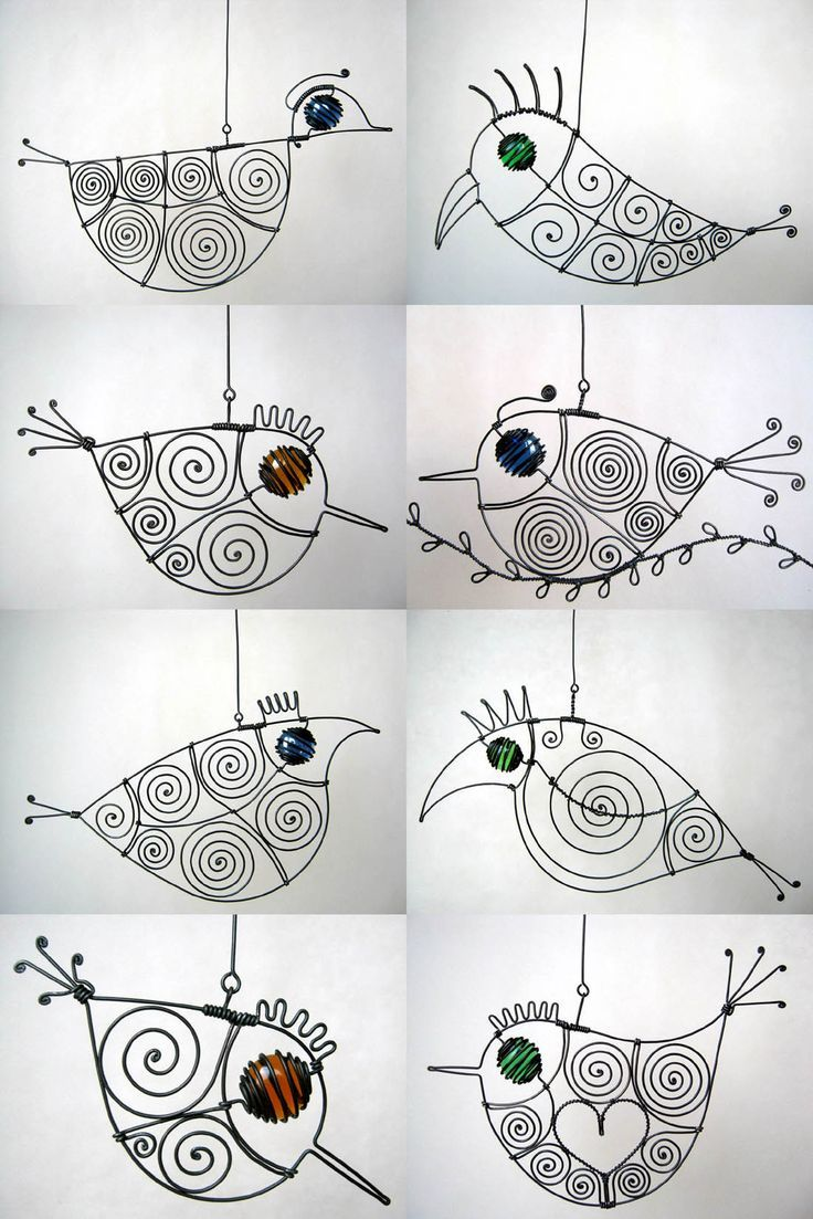wire birdies   Doodles, Drawings and more 6   Pinterest   Wire art ...