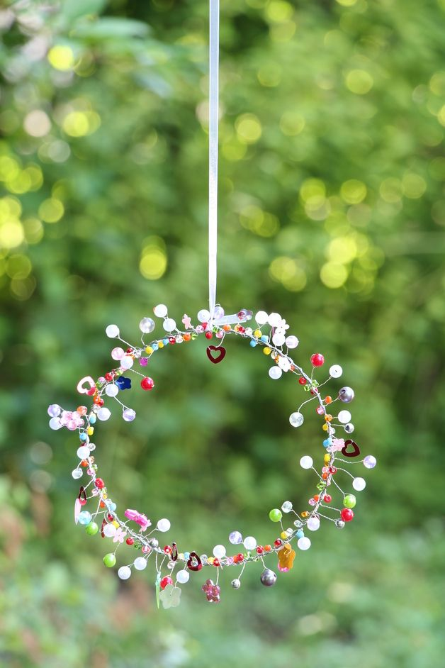 Funkelherz oder Funkelkreis Craft, Upcycling and Ornament