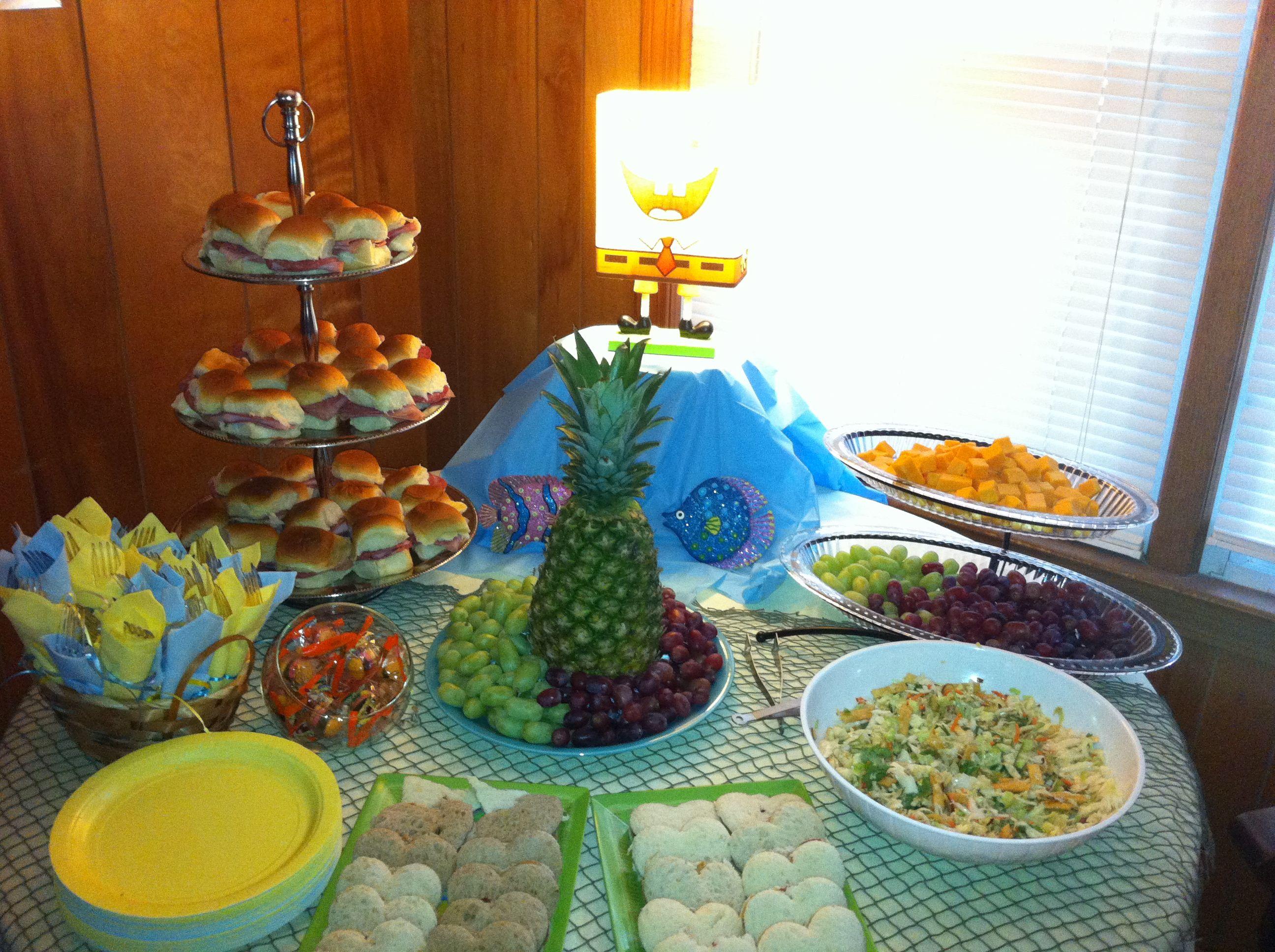 spongebob table baby shower ideas pinterest party time