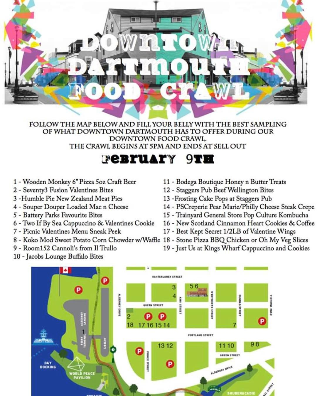 DOWNTOWN DARTMOUTH FOOD CRAWL. TMRO. track them down on fb for the ever evolving list of participants and menu items.
