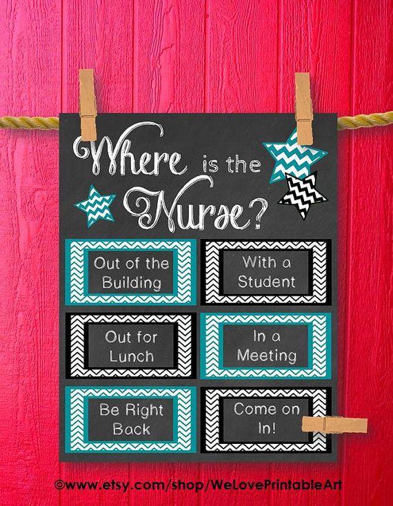 School nurse gift nurse art poster printable art school for Nursing home door decorations