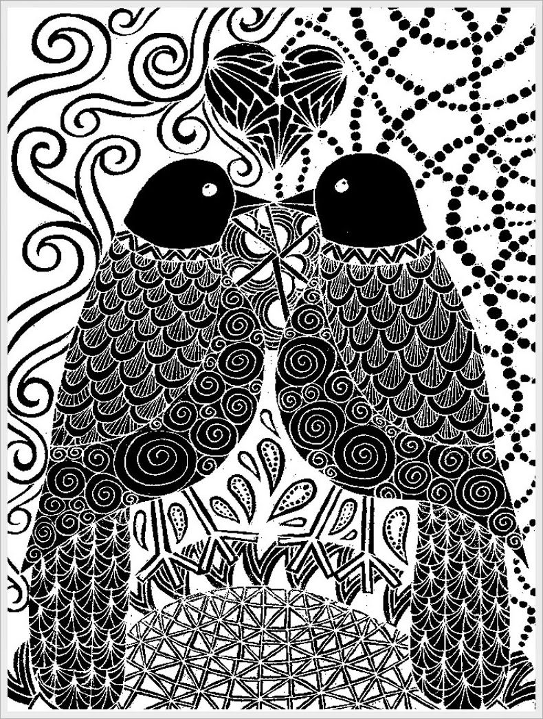 Pigeon Free Printable Adult Coloring Pages | Realistic Coloring Pages