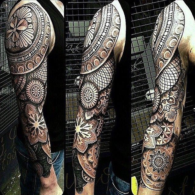 Modelos De Tatuagens On Instagram Geometric Sleeve Tattoo Sleeve Tattoos Best Sleeve Tattoos
