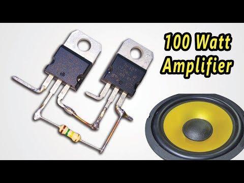 (2541) How To Make Powerful (100 Watt) Amplifier Circuit ...