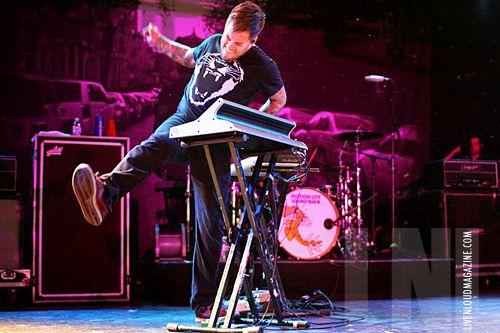 Jesse Johnson on keyboards, Motion City Soundtrack